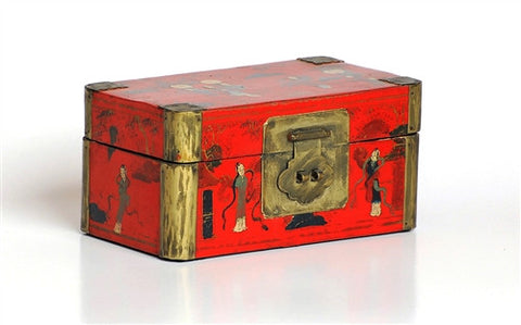 Vintage Red Chinese Box - The Loaded Trunk