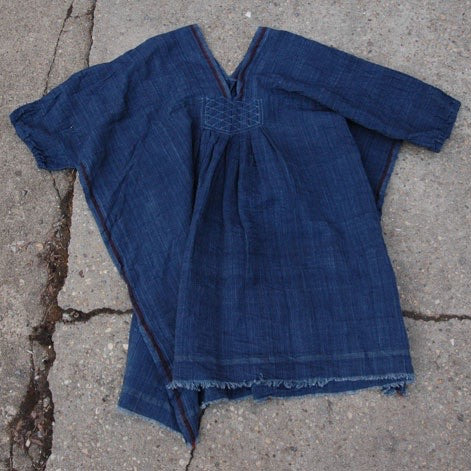 Indigo V Neck Tunic - India - The Loaded Trunk