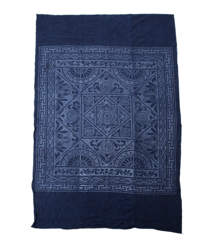 Vintage Hmong Indigo Batik Panel - The Loaded Trunk