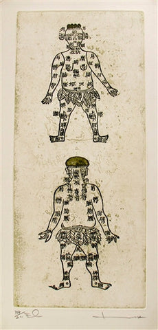 "Thai Etching ""Acupuncture Points"" - The Loaded Trunk"