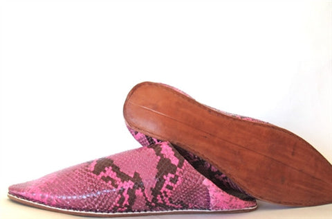 Pink Babouche Slippers - The Loaded Trunk