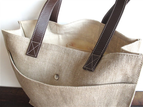 Moghul Linen & Leather Bags - The Loaded Trunk