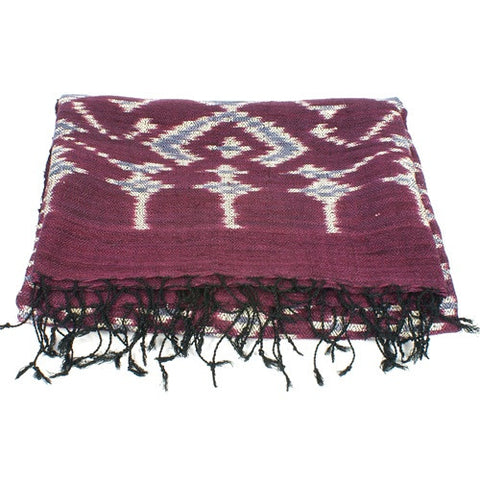 Silk Ikat Throw No. 1 - The Loaded Trunk