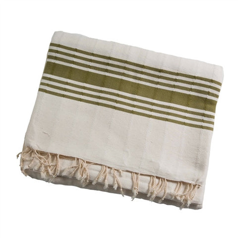 Striped Turkish Throw - Cream - The Loaded Trunk