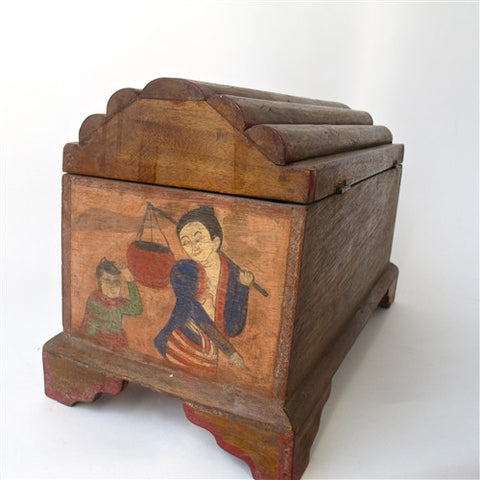 Large Hand Painted Thai Treasure Box No. 1 - The Loaded Trunk