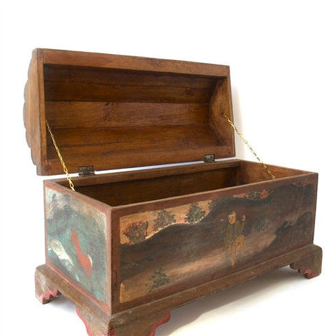Large Hand Painted Thai Treasure Box No. 2 - The Loaded Trunk