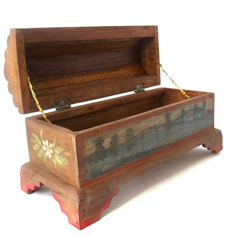 Small Hand Painted Thai Treasure Box No. 2 - The Loaded Trunk