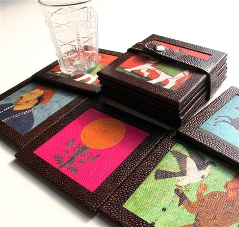 Stamped Pleather Coasters (Set of 6) - The Loaded Trunk