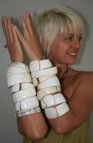 Vintage Shell Bracelet/Arm Piece No. 9 - The Loaded Trunk