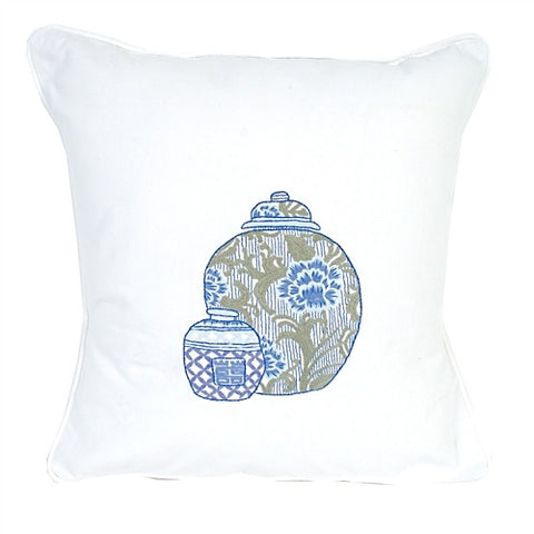 Blue & White Pillow No.1 - The Loaded Trunk