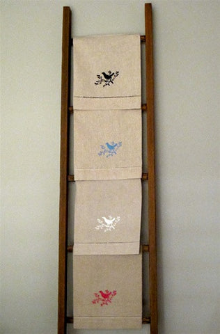 Embroidered Linen Hand Towel No. 1 - The Loaded Trunk
