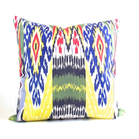 Uzbek Ikat Pillow No. 6 - The Loaded Trunk
