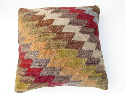Vintage Anatolian Kilim Wool Rug Pillow No. 9 - The Loaded Trunk