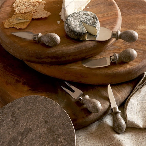 Marble Cheese Knives (Set of 5) - The Loaded Trunk