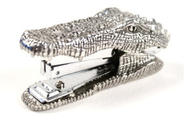 Crocodile Pewter Stapler - The Loaded Trunk
