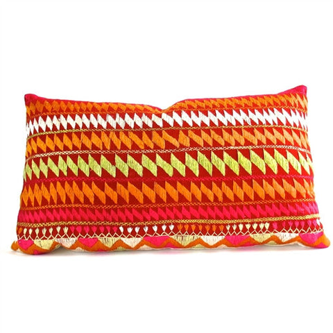 Phulkari Pillow No. 1 - The Loaded Trunk