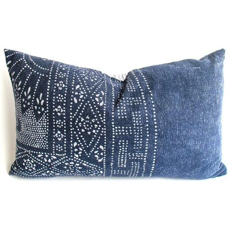 Hill Tribe Indigo Batik Pillow No. 6 - The Loaded Trunk