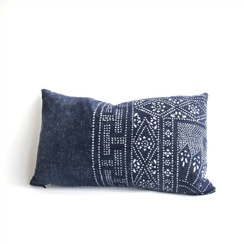Hill Tribe Indigo Batik Pillow No. 1 - The Loaded Trunk
