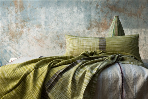 Neera Kumar Green Ikat Pillow - The Loaded Trunk