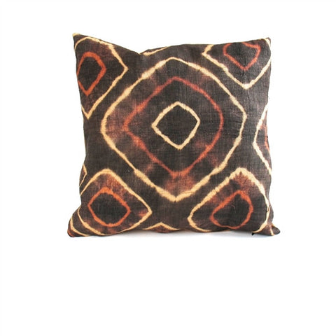 Tie-Dye Kuba Cloth Pillow No. 5 - The Loaded Trunk
