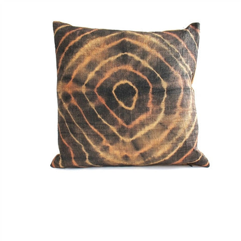 Tie-Dye Kuba Cloth Pillow No. 12 - The Loaded Trunk