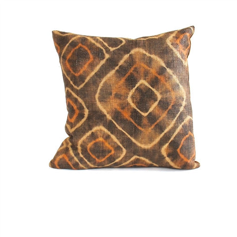 Tie-Dye Kuba Cloth Pillow No. 14 - The Loaded Trunk