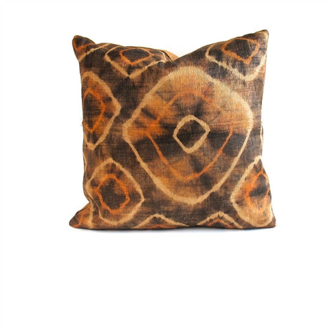 Tie-Dye Kuba Cloth Pillow No. 15 - The Loaded Trunk