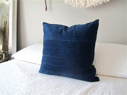 Indigo Striped Pillow No. 21 - The Loaded Trunk
