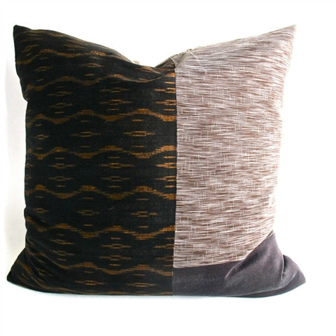 Silk Patchwork Pillow No. 1 - The Loaded Trunk