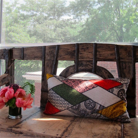 Vintage Silk Kimono Pillow - The Loaded Trunk