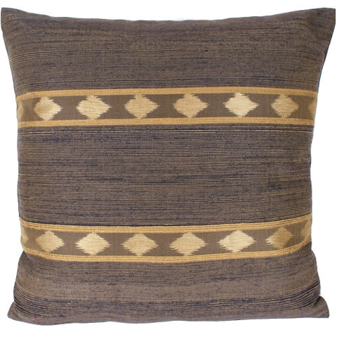 Indigo Ikat Silk Pillow - The Loaded Trunk