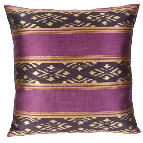 Purple Silk Ikat Pillow - The Loaded Trunk