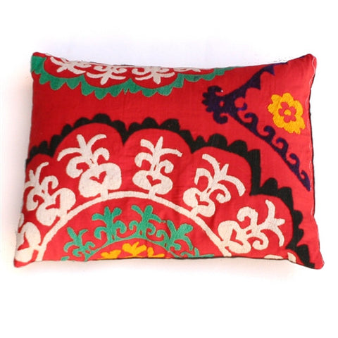 Vivid Florals Suzani Pillow No. 2 - The Loaded Trunk