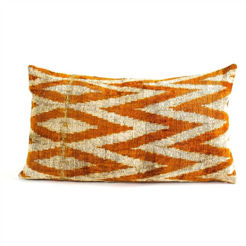 Gold Chevron Ikat Pillow - The Loaded Trunk