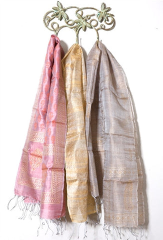 Tussar Silk Scarf No. 4 - The Loaded Trunk