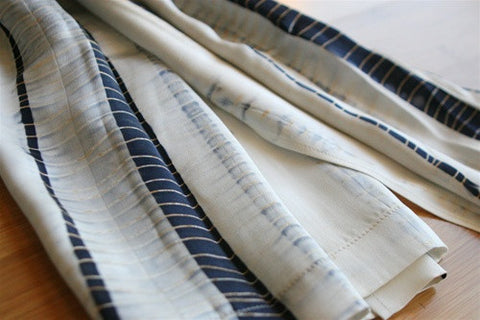 Silk Charmeuse Shibori Wrap No. 1 - The Loaded Trunk