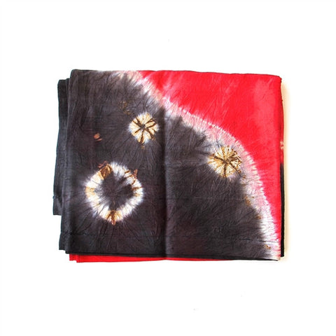 Silk Dupioni Shibori Wrap No. 2 - The Loaded Trunk