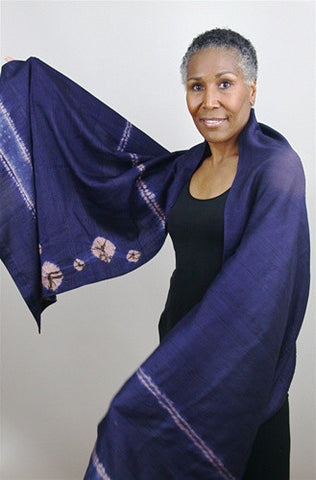 Silk Dupioni Shibori Wrap No. 3 - The Loaded Trunk