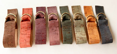 NEW! Real Cork shawl belts