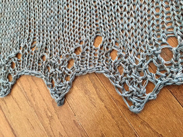 Grey Ghost shawl pattern