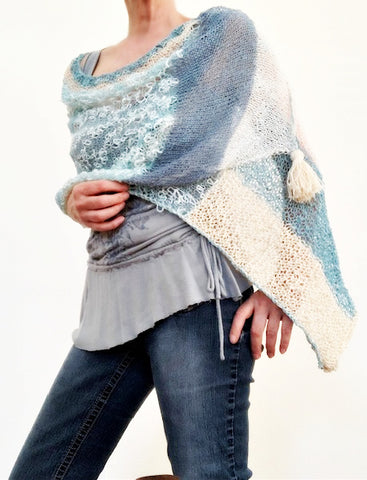 NEW! Blue Hues, knit kit