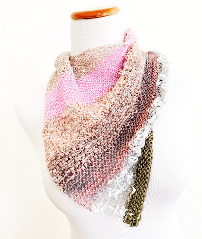 NEW! Layered kerchief, knit kit