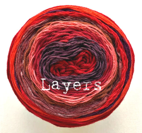 Layers yarn cakes