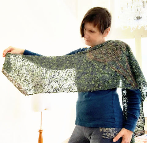 NEW! Tree top shawl, knit kit