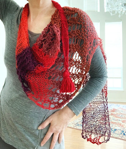 NEW Vermillion shawl