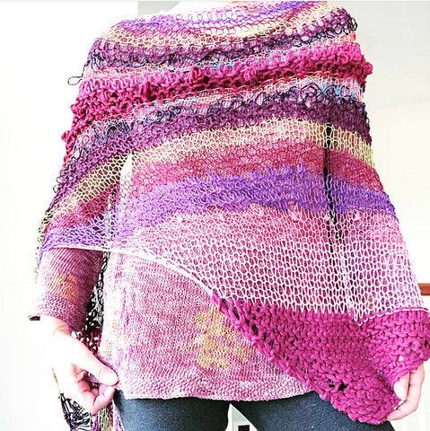 Wine Country shawl pattern