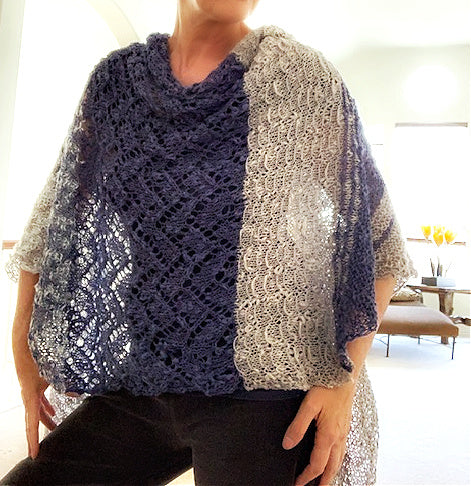 Casual Delft shawl, pattern