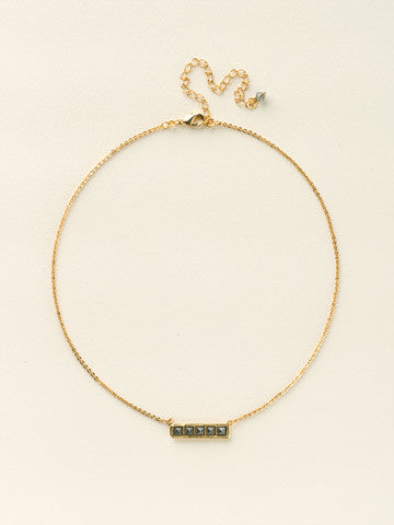 AG/BLACK  AND WHITE LISA OSWALD COLLECTION GOLD NECKLACE