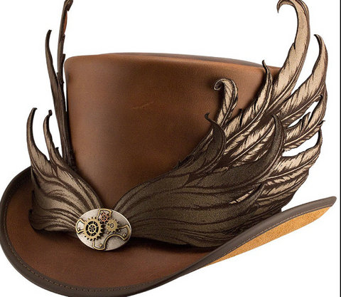 Masquerade Leather Top Hat