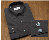 Slate Grey Remington 2 Shirt Turquoise Snaps